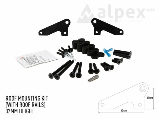 Lazer Lamps Roof mounting kit, for roof rails - 37mm height