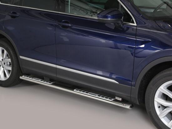 Misutonida csőküszöb - design betéttel, ovális - Volkswagen Tiguan 16-