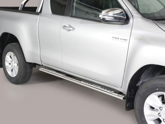 Misutonida csőküszöb - design betéttel, ovális - Toyota Hilux E/C 16-