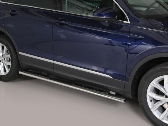 Misutonida csőküszöb - műanyag betéttel, ovális - Volkswagen Tiguan 16-