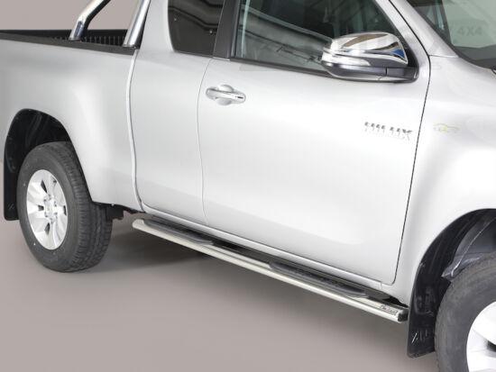 Misutonida csőküszöb - műanyag betéttel, ovális - Toyota Hilux E/C 16-