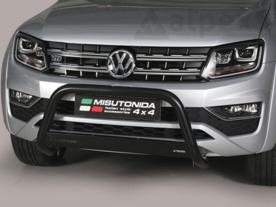 Misutonida EU gallytörő rács, 63 mm - fekete - Volkswagen Amarok 10-