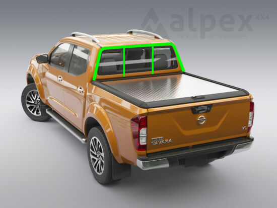 Mountain Top Style Aluminium Cover - to fit with ladder rack - Nissan D/C 2015-