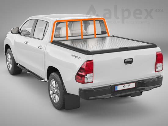 Mountain Top Style Aluminium Cover - to fit with ladder rack - Toyota D/C 2015-