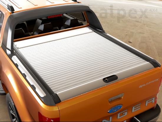 Ranger Wildtrak, Mountain Top Roll Cover - silver - Ford D/C 2012-