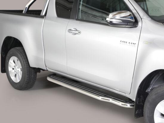 Misutonida fellépő küszöb - műanyag lemezbetéttel - Toyota Hilux E/C 16-