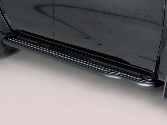 Misutonida Side Step - with plastic inlay plate - black - Navara D/C 2016-