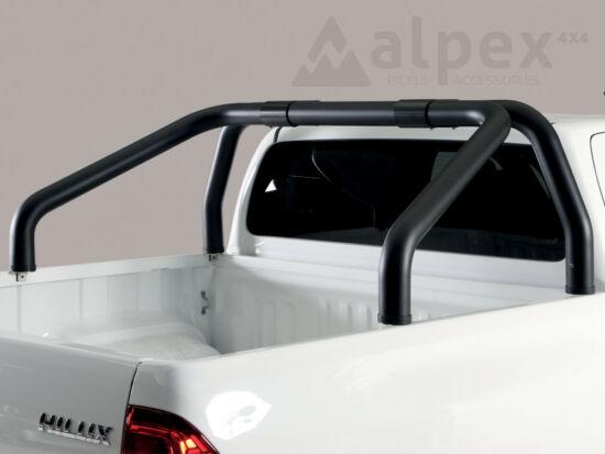 Misutonida bukócső - szimpla csővel, 76 mm - fekete - Toyota Hilux 16-