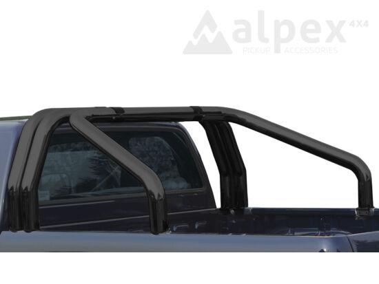 Misutonida bukócső - dupla csővel, 76 mm - fekete - Toyota Hilux 16-