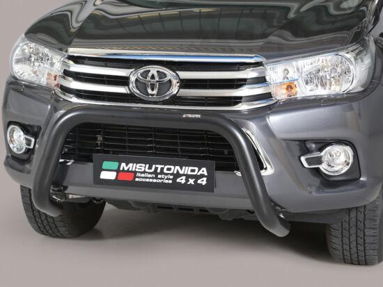 Misutonida EU gallytörő rács, 76 mm - fekete - Toyota Hilux 16-