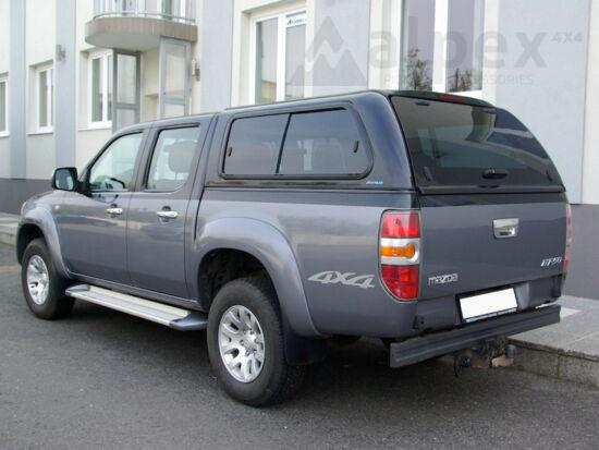 Aeroklas Stylish felépítmény - csúsztatható oldalüveg - 18G ezüst - Ford D/C 2006-2012