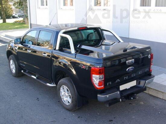 Aeroklas Galaxy Abdeckung - mit Überrollbügel kompatibel - PNJAB panther schwarz - Ford D/C 2012-