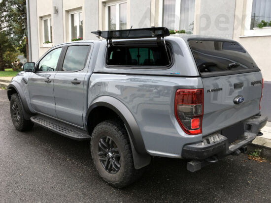 Aeroklas Stylish hardtop - pop-up side window - central locking - PNZAT shadow black - Ford D/C 2012-