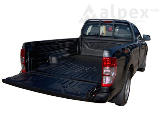 Aeroklas Bed Liner - over rail - metal cargo hooks - Ford S/C 2012-