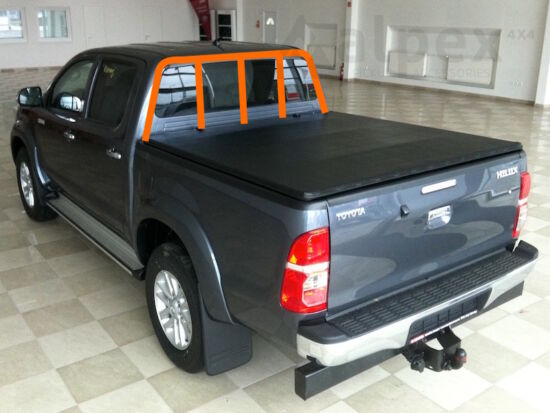 Alpex Hidden Snap soft cover - to fit with ladder rack - Toyota D/C 2005-2015