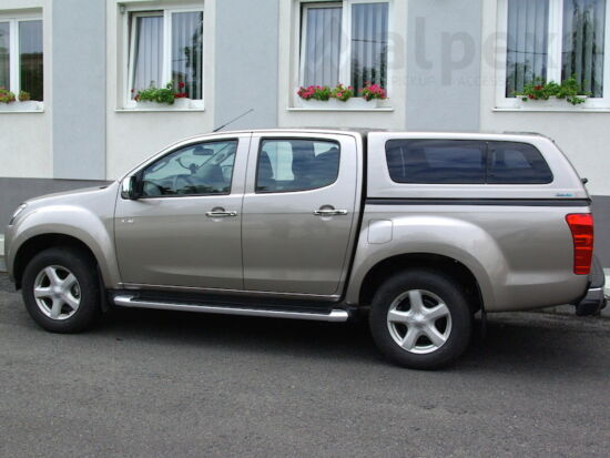 Aeroklas Stylish hardtop - pop-out side window - central locking - 529 titanium silver - Isuzu D/C 2012-