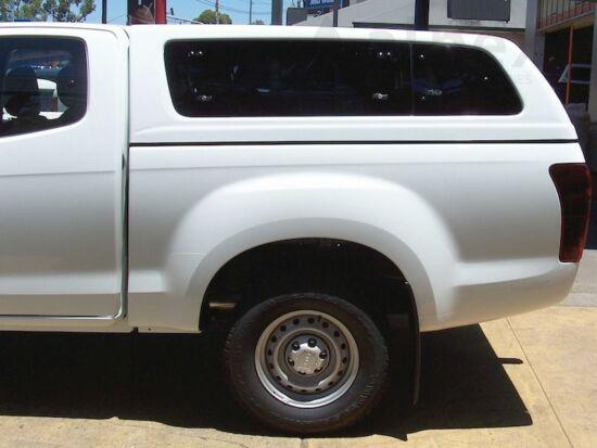 Aeroklas Stylish hardtop - pop-up side window - central locking - 529 titanium silver - Isuzu E/C 12-