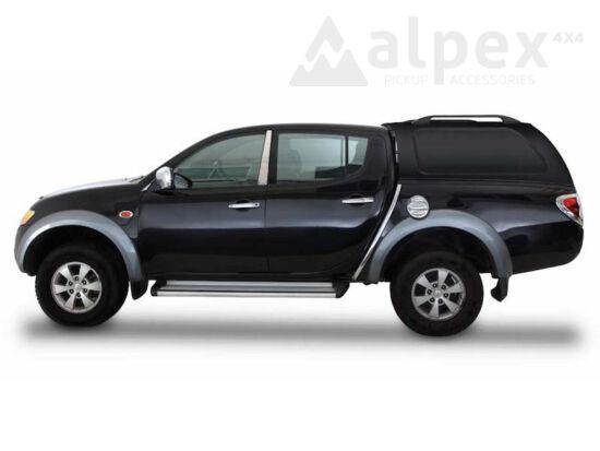 Aeroklas Commercial felépítmény - oldalüveg nélkül - X08 fekete - Mitsubishi D/C 2005-2009