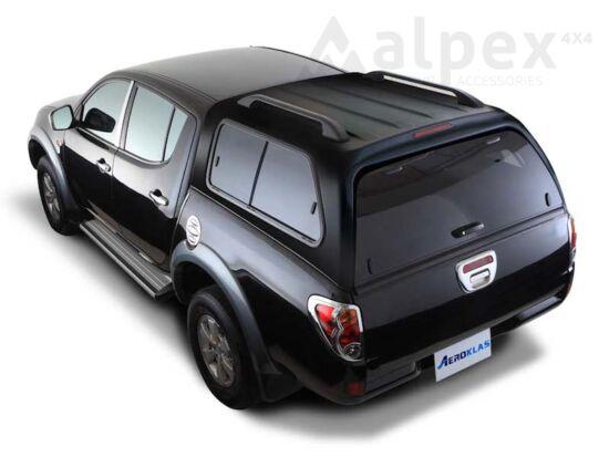 Aeroklas Stylish felépítmény - csúsztatható oldalüveg - X08 fekete - Mitsubishi D/C 05-09