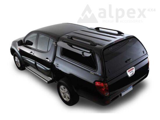 Aeroklas Stylish felépítmény - felnyitható oldalüveg - X08 fekete - Mitsubishi D/C 2009-2015