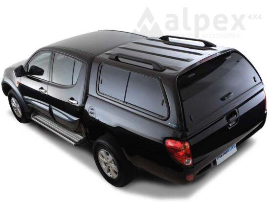 Aeroklas Stylish felépítmény - csúsztatható oldalüveg - X08 fekete - Mitsubishi D/C 2009-2015