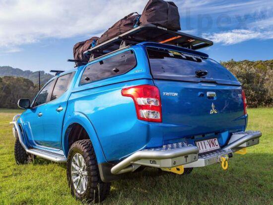 Aeroklas Stylish Hardtop - seitliche Aufklappfenster - U28 grau - Mitsubishi D/C 2015-