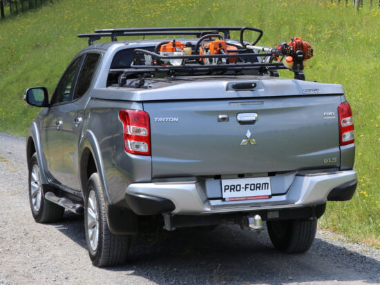 Pro-Form Sportlid V platófedél - központi záras - X08/555 fekete - Mitsubishi/Fiat D/C 2015-