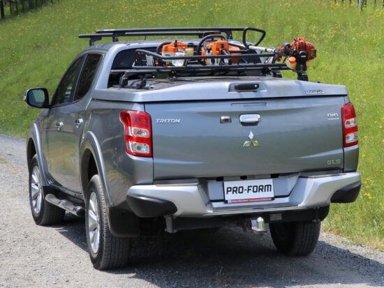 PRO-FORM Sportlid V hard cover - central locking - X08/555 black - Mitsubishi/Fiat D/C 2015-