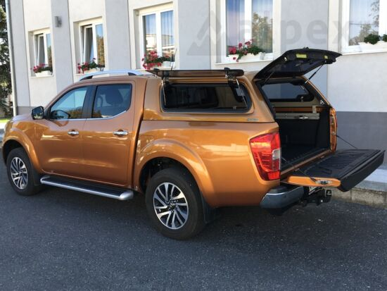 Aeroklas Stylish Hardtop - seitliche Aufklappfenster - EAU orange - Nissan D/C 2015-