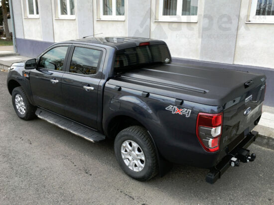 PRO-FORM Sportlid V hard cover - black, grain surface - central locking - Toyota D/C 2015-