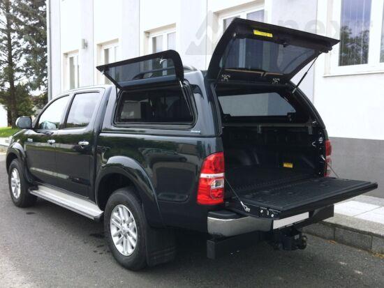 Aeroklas Stylish Hardtop - seitliche Aufklappfenster - 1H2 dunkelstahl - Toyota D/C 2005-2015