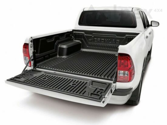 Aeroklas Bed Liner - under rail - to fit with OE cargo hooks - Toyota D/C 2015-