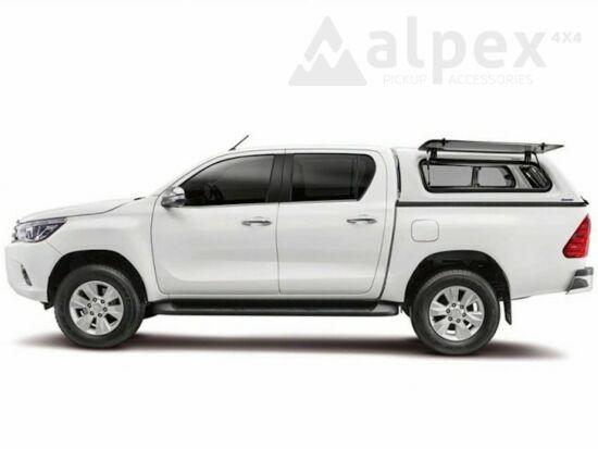 Aeroklas Stylish felépítmény - felnyitható oldalüveg - 8X2 kék - Toyota D/C 2015-